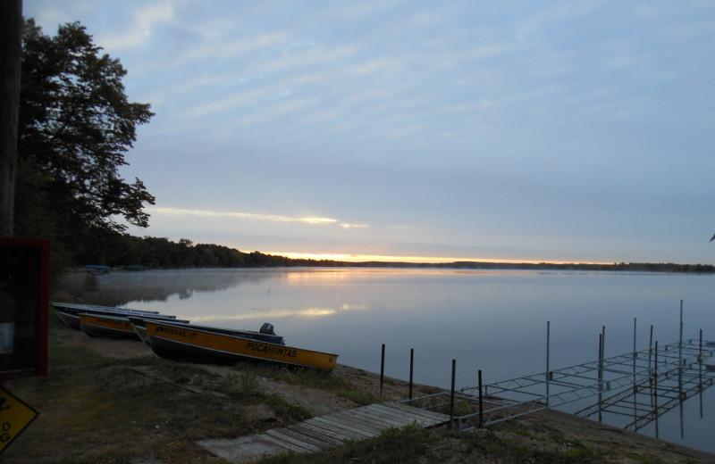 Lake at Pocahontas Resort.