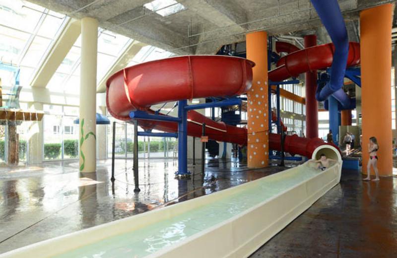 Resort water slides at MyrtleBeachVacationRentals.com.