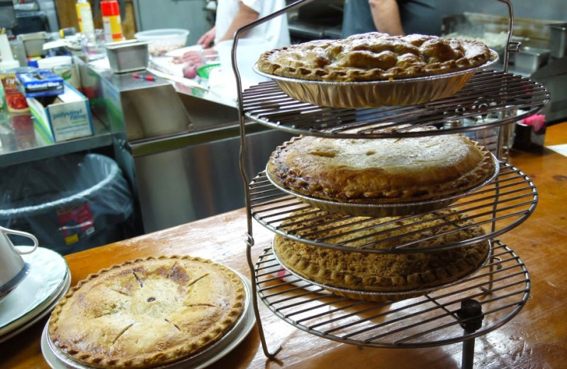 Fresh pies at Gwin's Lodge & Kenai Peninsula Charter Booking Service.