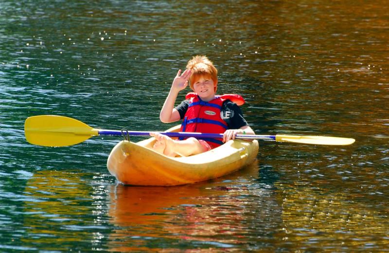 Kayaking at Bayview Wildwood Resort.