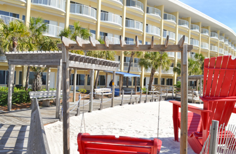Easy beach access at Boardwalk Beach Resort Hotel & Convention Center