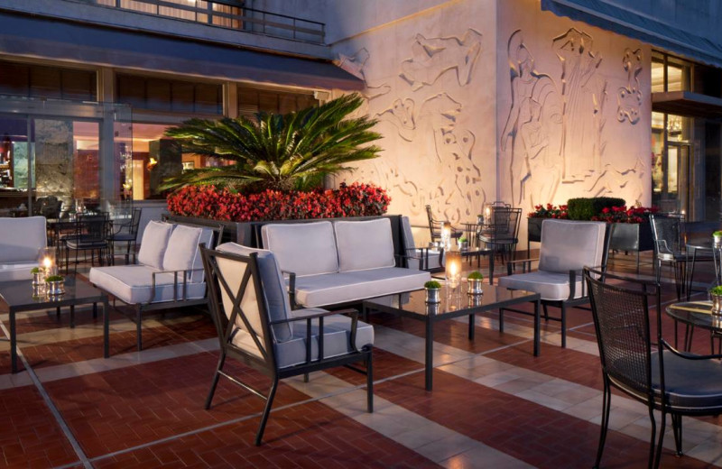 Patio at Four Seasons Hotel - The Ritz Lisbon.