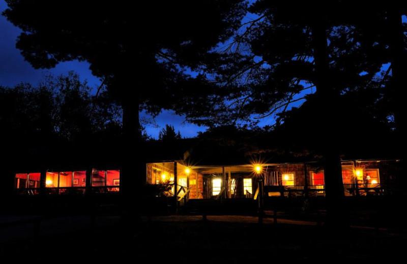 Main lodge exterior at Elk Lake Lodge.