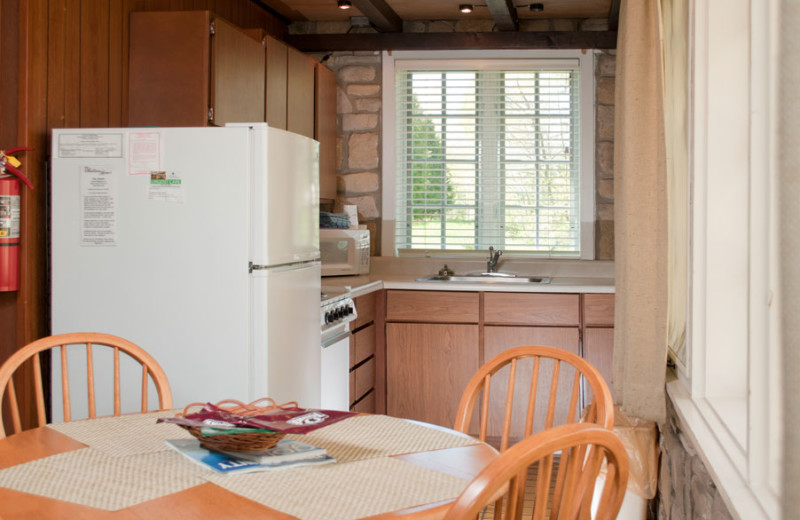 Cottage kitchen at The Shallows Resort.