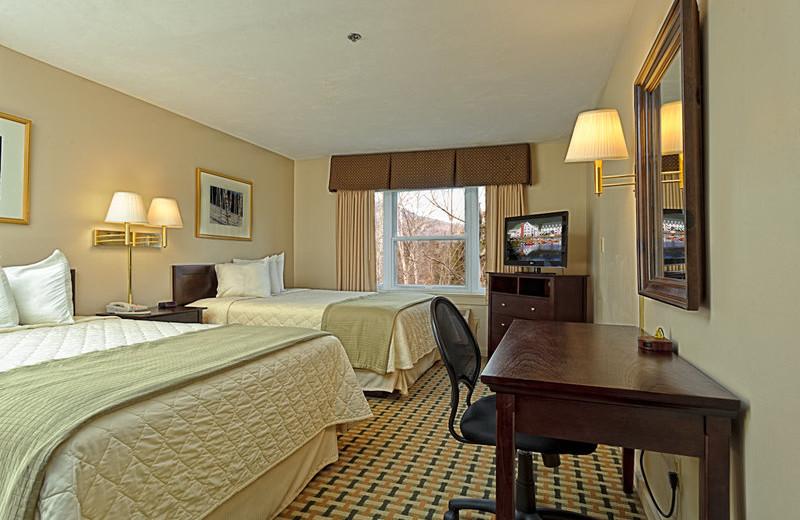 Guest room at Silver Fox Inn.