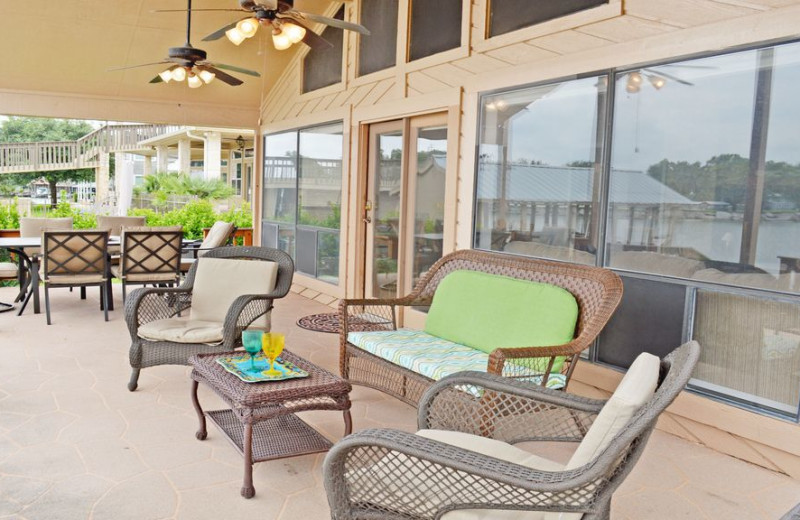 Patio at Splash Time Vacation Home.
