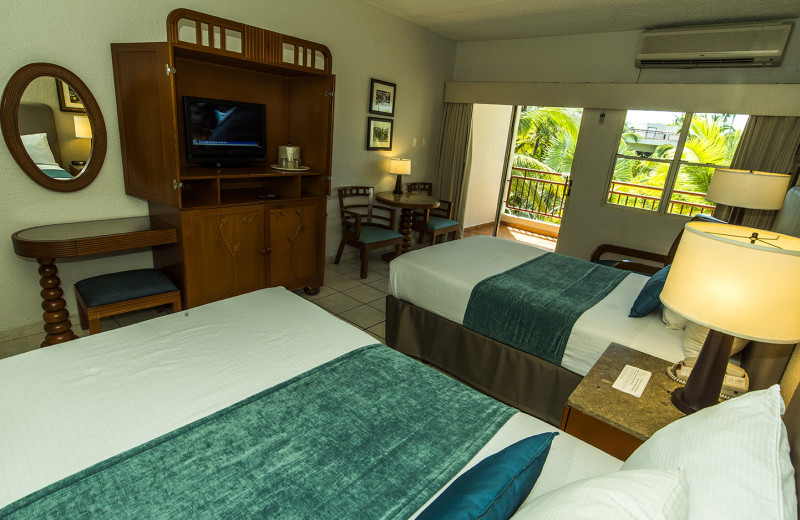 Guest room at Rincon of the Seas Grand Caribbean Hotel.