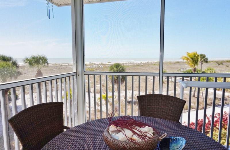 Rental balcony at Palm Island Resort.