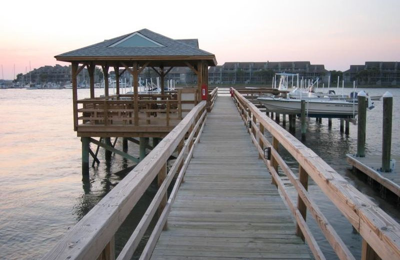 Fishing pier at Vacation Rentals Folly Beach.