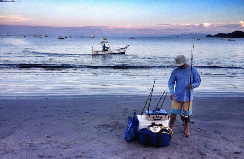 Fishing at Hotel Villa del Sueno.