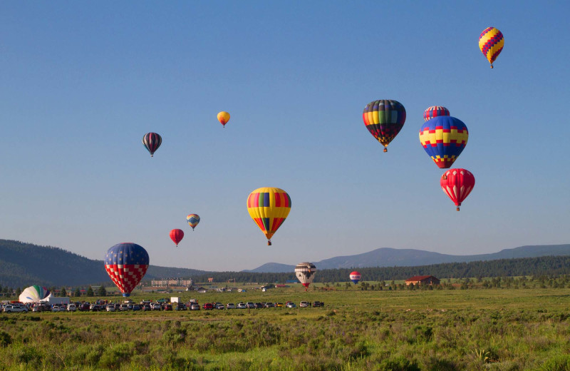 Hot air balloons at Resort Properties of Angel Fire.