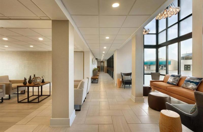 Lobby at Surfbreak Oceanfront Hotel.
