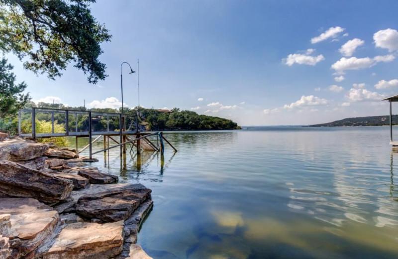 Lake view at Moores Hidden Cove Retreat.