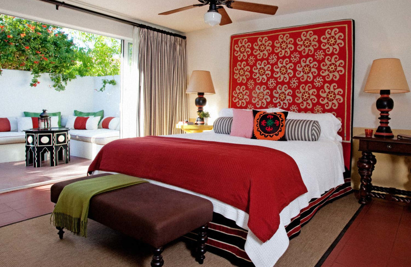 Guest room at Colony Palms Hotel.
