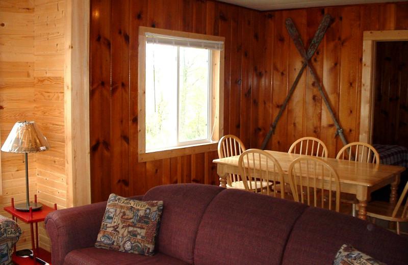 Cabin interior at Sunset Bay Resort.