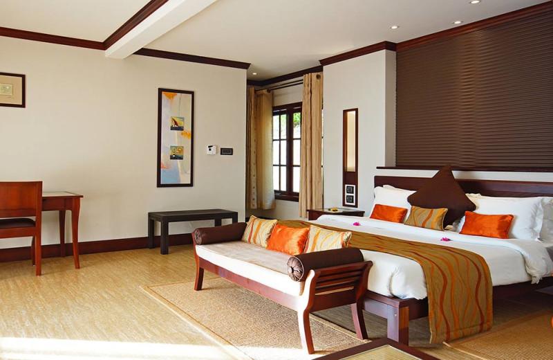 Guest room at L'Archipel.