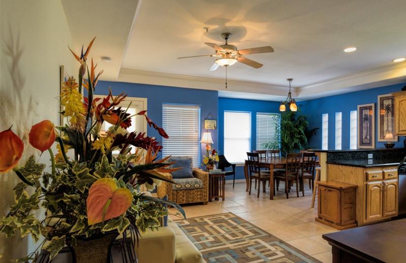 Rental interior at Padre Getaways.