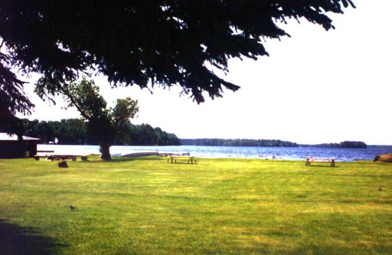Grounds at Voyageurs Sand Lake Resort.