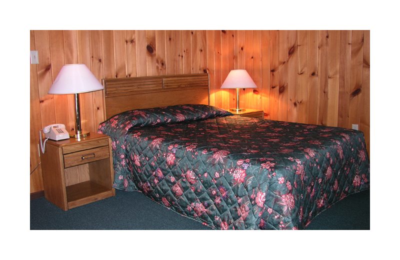 Guest room at Woodlake Inn.
