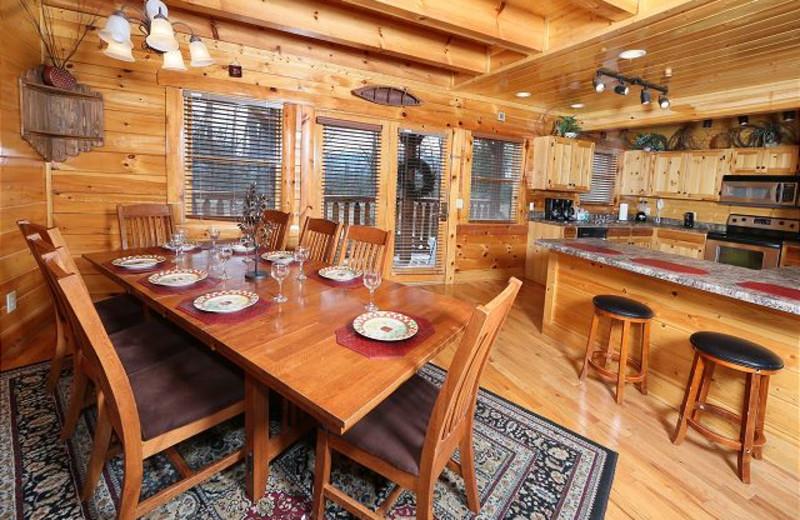 Cabin kitchen at Eden Crest Vacation Rentals, Inc. - Rising Eagle Lodge.