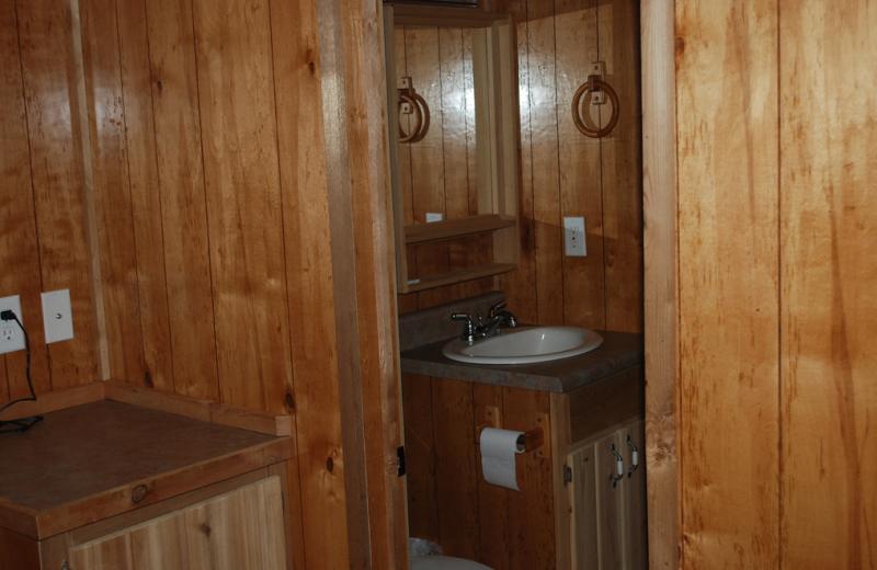 Cabin bathroom at Colorado Springs KOA.