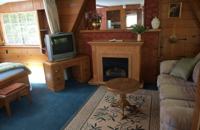 Cottage living room view at Hood Canal Cottages