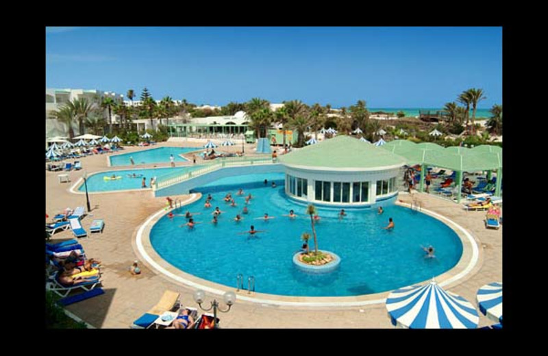 Outdoor pool at Abou Nawas Djerba.