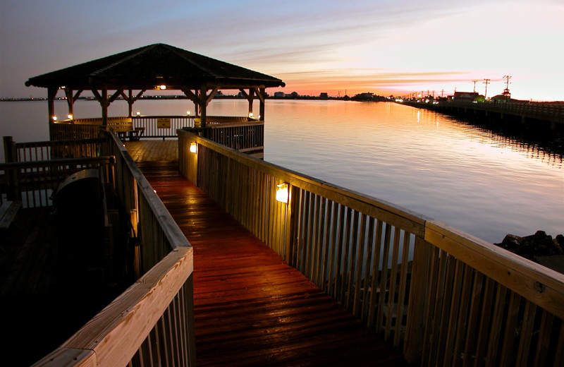 Dock view at Oasis Suites.