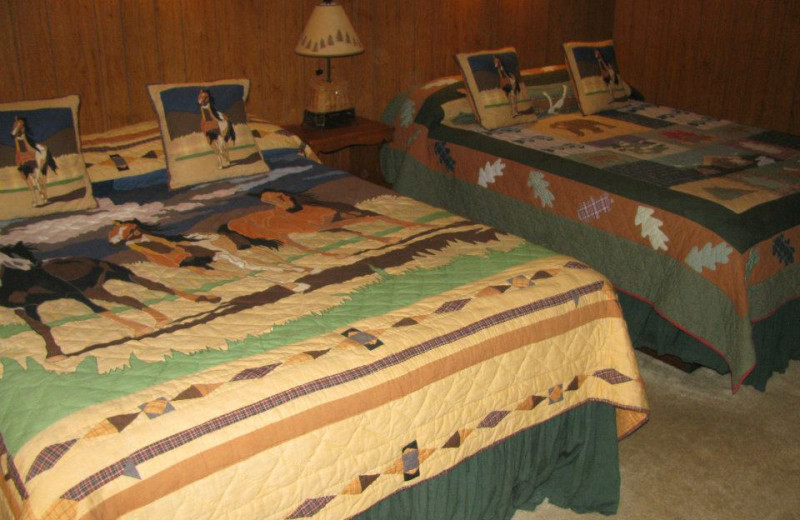 Double guest room at Harmels Ranch Resort.