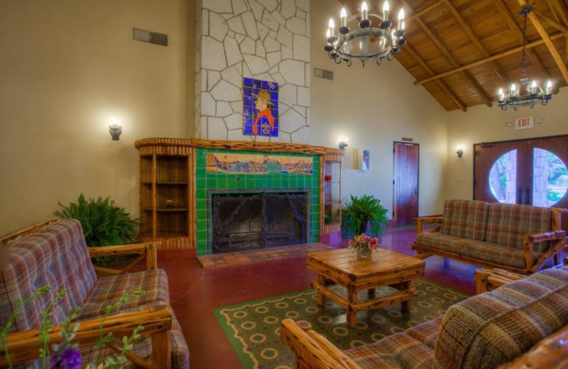 Guest lobby at Mo-Ranch.