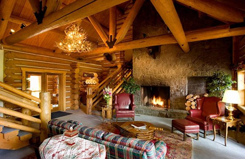 Cabin interior at Aspen Ridge Resort.