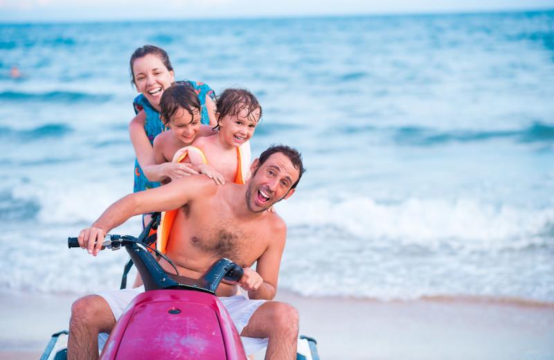 Family jet ski at Jersey Cape Realty.