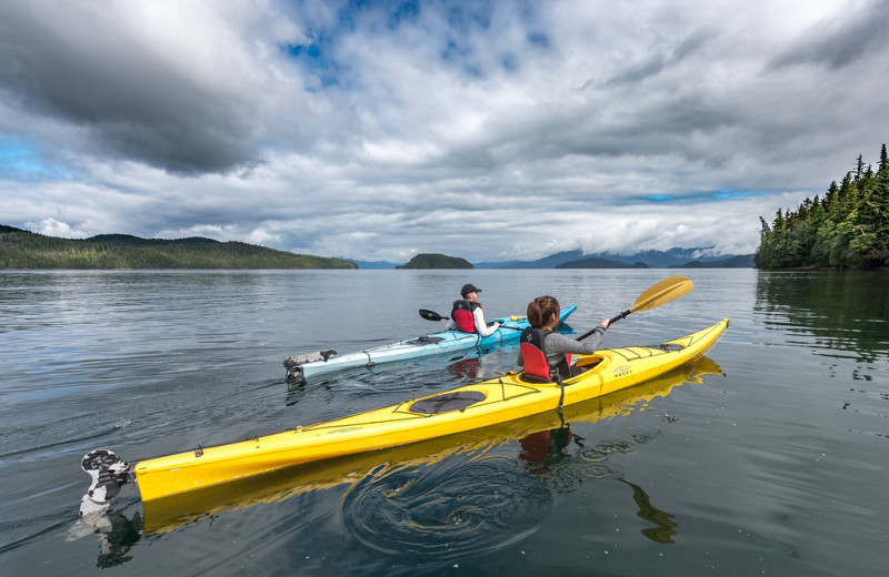 Gliding along the Tongass Narrows at Salmon Falls Resort