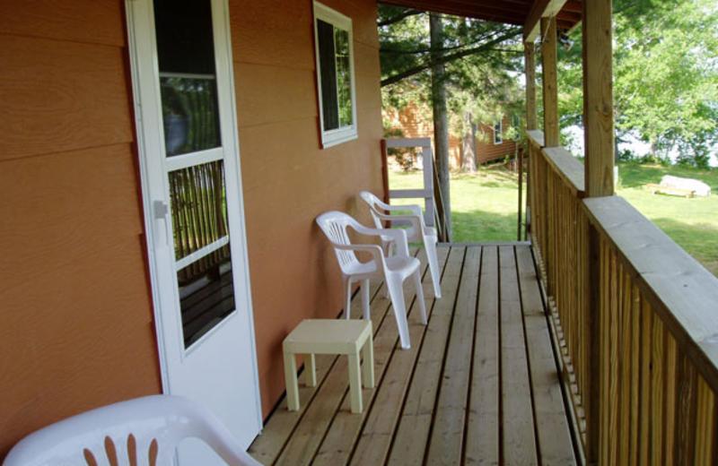 Cabin deck at Anderson's Resort.