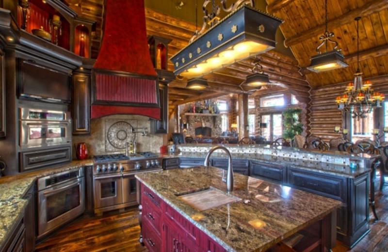 Rental kitchen at Pagosa Springs Accommodations.
