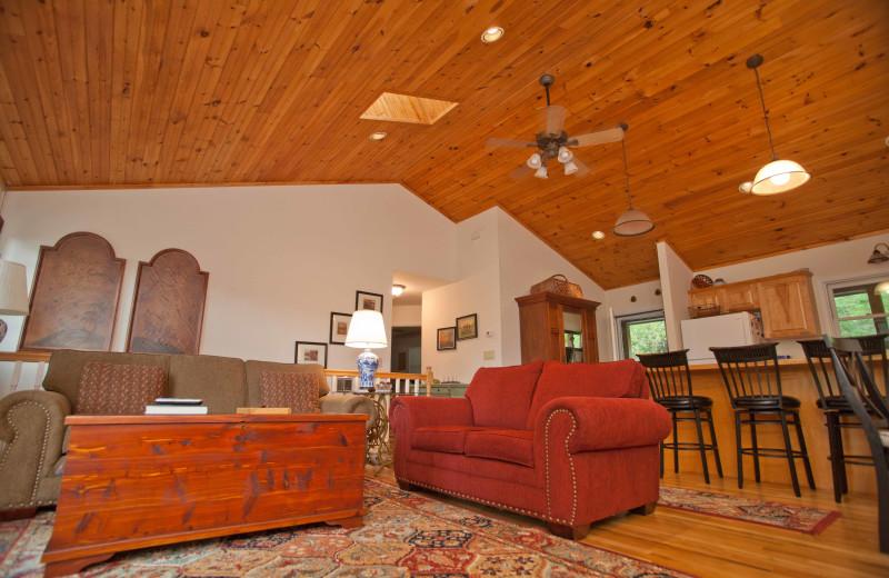 Rental interior at Boone Cabin Rentals.