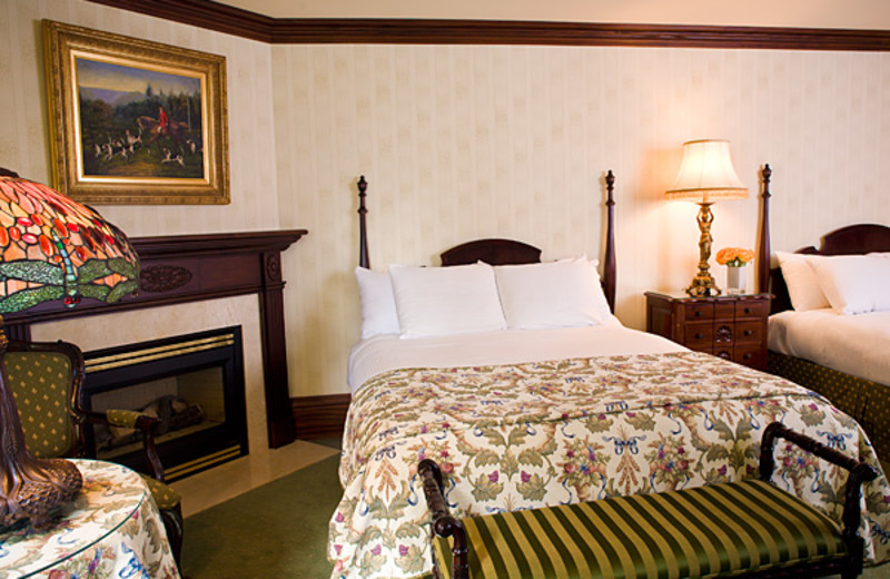 Double bed fireplace suite at Prince of Wales Hotel.