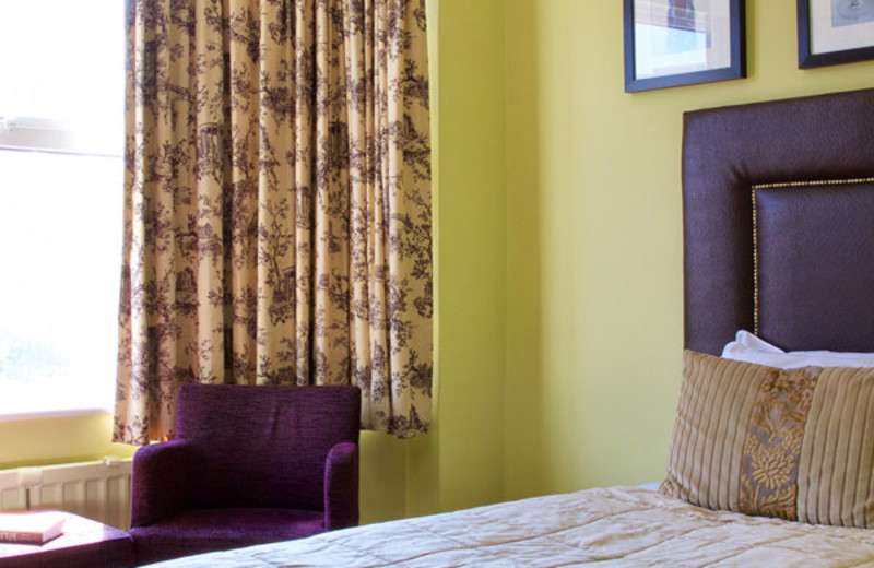 Guest room at Durley Hall Hotel.