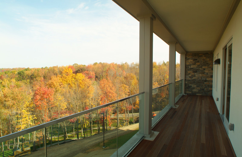 Porch view at Lenape Heights Golf Resort.