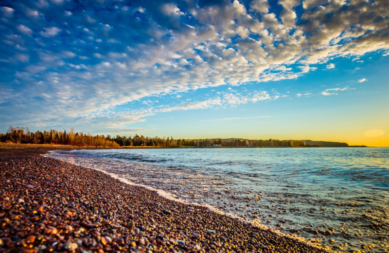 Beach at Superior Shores Resort.