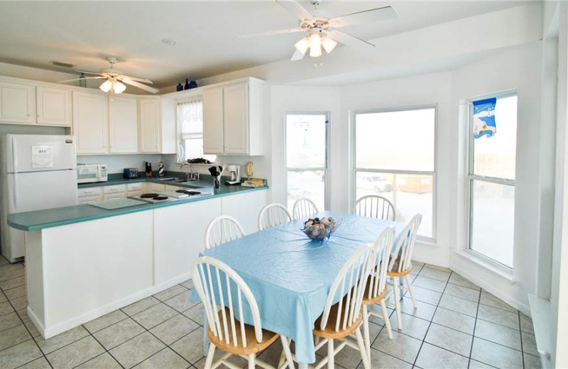 Rental kitchen at Dauphin Island Beach Rentals, LLC.