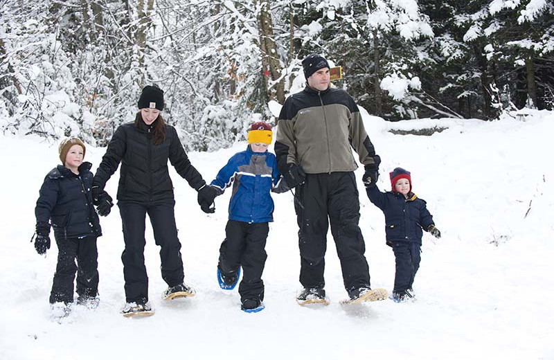 Snowshoeing at The Whiteface Lodge.