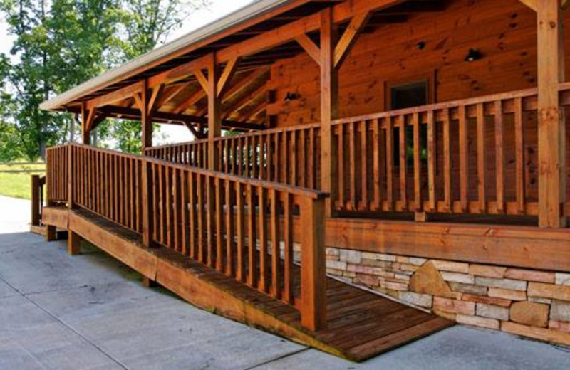 Handicapped accessible cabin exterior at Cabins For You.