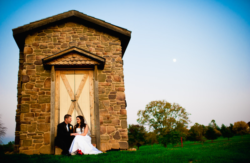 Wedding couple at Heritage Hills Golf Resort.