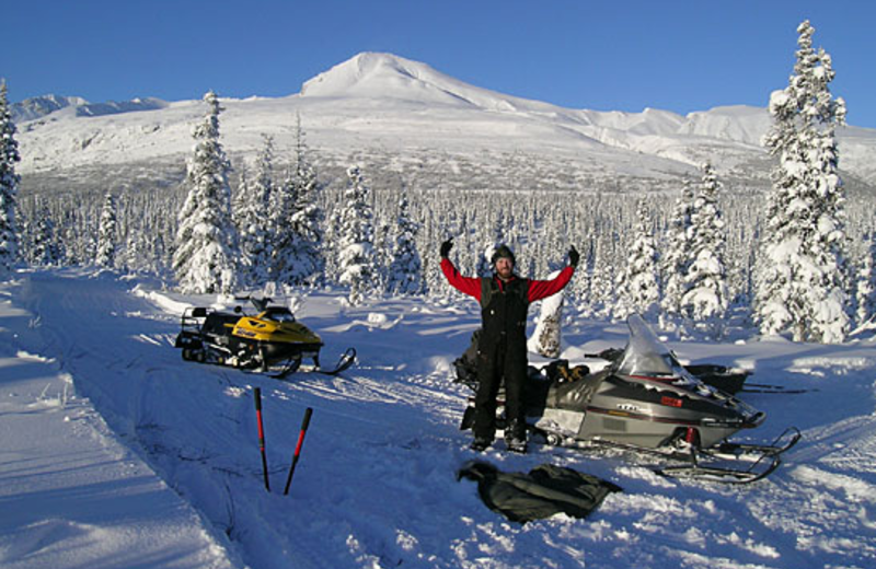 Snowmobiling at Majestic Valley Lodge.