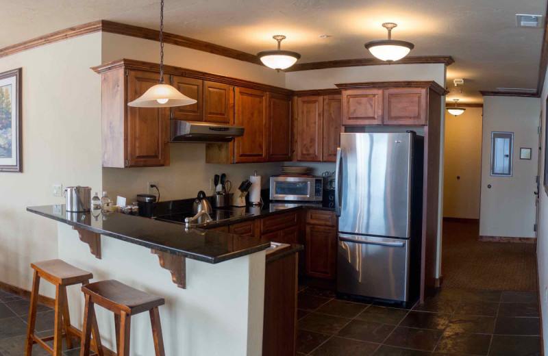 Guest kitchen at The Lodge at Whitefish Lake.