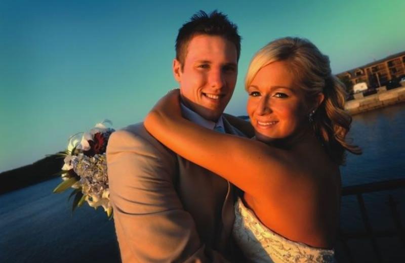 Wedding Couple at Harborside Hotel