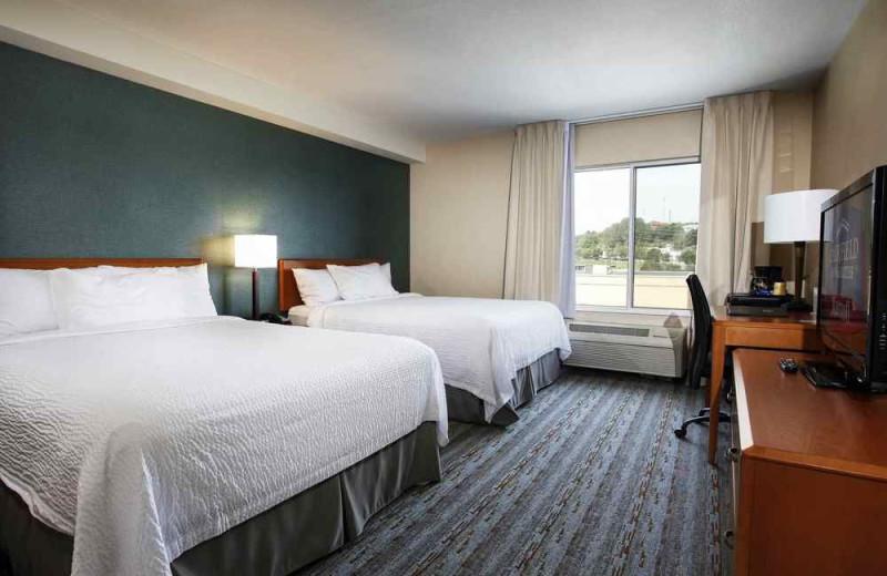 Guest room at Fairfield Inn & Suites Sudbury.