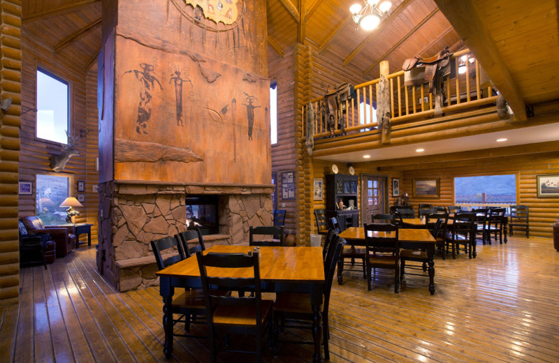 Lodge interior at Castle Valley Outdoors.