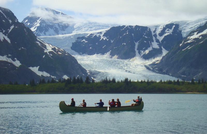 Canoeing at Kenai Fjords Glacier Lodge.